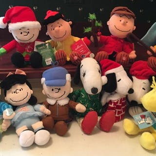 Group of 11 Peanuts Plush Sound and Motion toys and more
