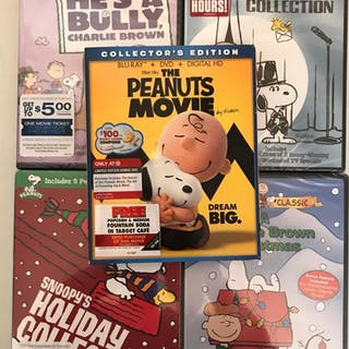 Group 5 Peanuts movies, dvd and blu ray