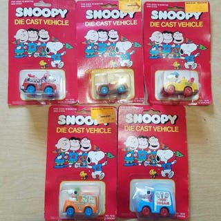 Lot of 5 Snoopy Diecast Vehicles