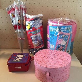 Group of Peanuts Sleeping Bag, Bed Set and more
