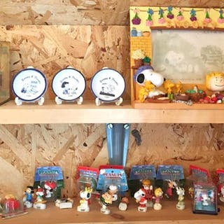 Group of Peanuts Snoopy Miniatures and more