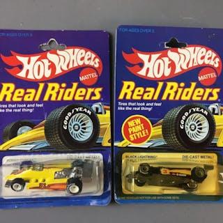 Group of 2 Hot Wheels Real Riders Die-Cast Vehicles In Original Packages