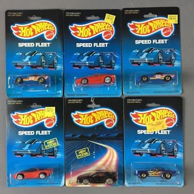 Group of 6 Hot Wheels Speed Fleet Die-Cast Vehicles In Original packages