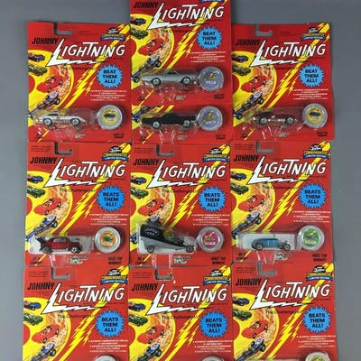 Group of 10 Johnny Lightning Commemorative Limited Edition Die-Cast