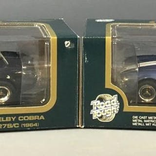 Group of 2 Road Tough Shelby Cobra 427S/C Die-Cast Cars In Original Boxes