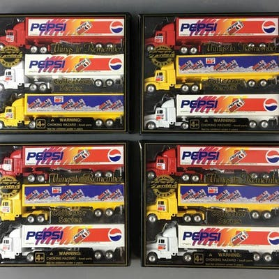 Group of 4 Things to Remember Collectors Series Pepsi Die-Cast Tractor