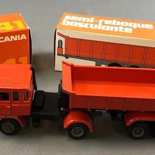Scania Arpra Supermini LK 141 and semi-reboque basculante die cast