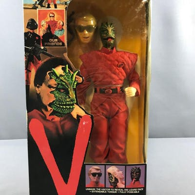 V Enemy Visitor action figure in original packaging