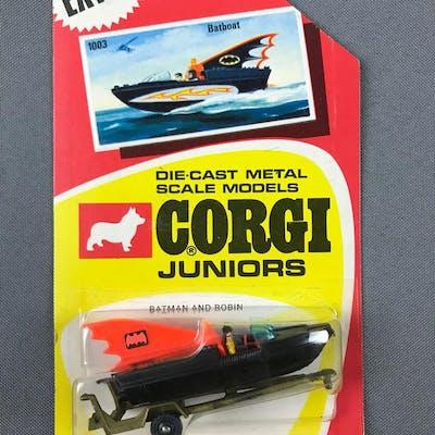 Corgi Juniors Batboat Batman and Robin die cast vehicle in original packaging