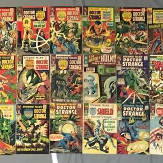 Group of 18 Marvel Comics Strange Tales Nick Fury, Hulk, brother Voodoo