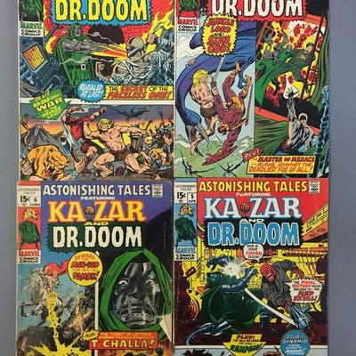 Group of 4 Marvel Comics Kazar Dr. Doom Comic Books