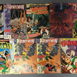 Group of 9 DC Comics Hawkman Comic Books and more