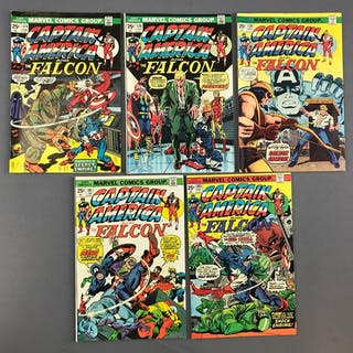 Group of 5 Marvel Comics Captain America and the Falcon Comic Books