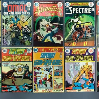 Group of 10 DC comics/adventure comic books and more