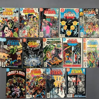 Group of 18 DC Comics The Teen Titans Comic Books