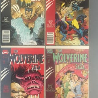 Group of 4 Marvel Comics Wolverine Saga Comic Books