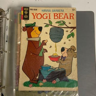 Binder of 12 cartoon character comic books