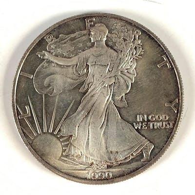 1990 silver American eagle