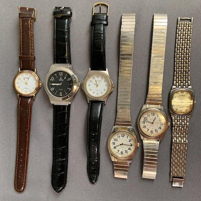 Group of six men 's wrist watches