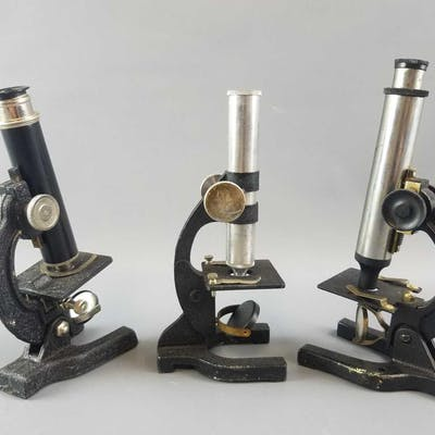 Group of 3 Vintage Microscopes.