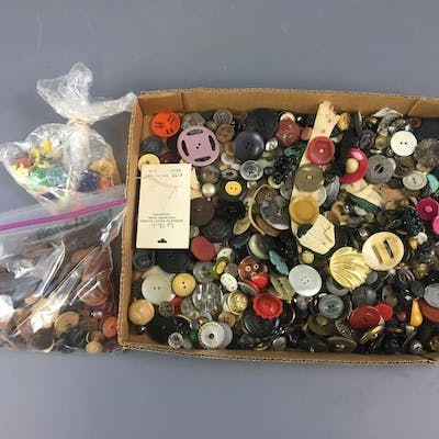Large Group of Vintage Buttons.