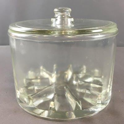 Vintage Clear Glass Sanitary Cheese Preserver