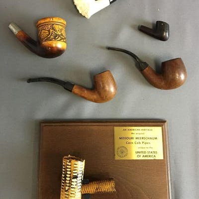 Group of 6 Vintage Tobacco Pipes