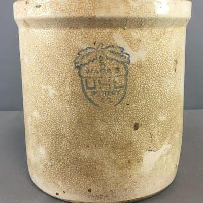 Antique Acorn Wares UHL Pottery Crock