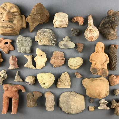 Group of Pre-Columbian Artifacts