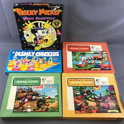 Group of Vintage Disney puzzles and more