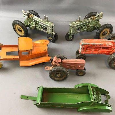 Group of 6 vintage farm vehicles