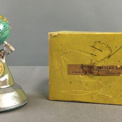 Vintage Chicago Worlds Fair Souvenir Globe Paperweight