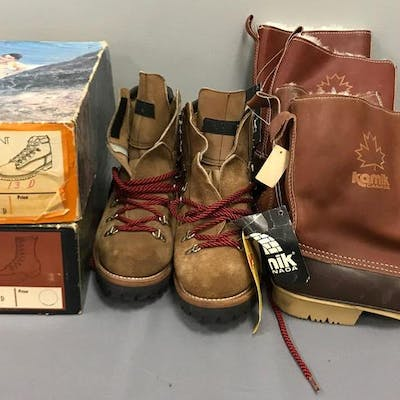 Group of 5 pairs of mens boots