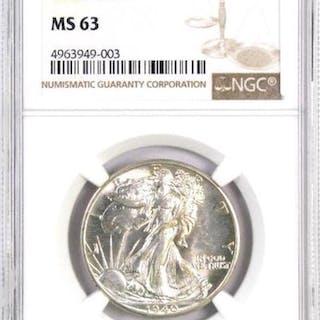 1940 P Walking Liberty Silver Half Dollar (NGC) MS63.