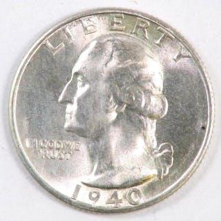 1940 S Washington Silver Quarter.