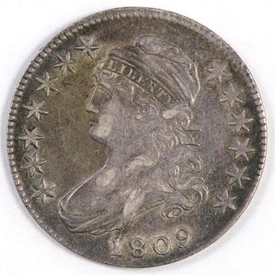 1809 Capped Bust Silver Half Dollar.