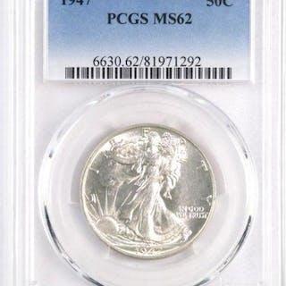 1947 P Walking Liberty Silver Half Dollar (PCGS) MS62.