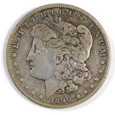 1890 O Morgan Silver Dollar.