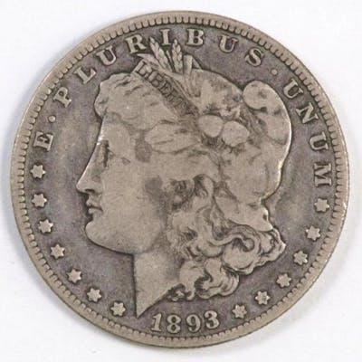 1893 O Morgan Silver Dollar.
