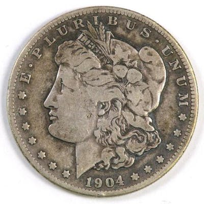 1904 S Morgan Silver Dollar.