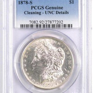 1878 S Morgan Silver Dollar (NGC) UNC Details.