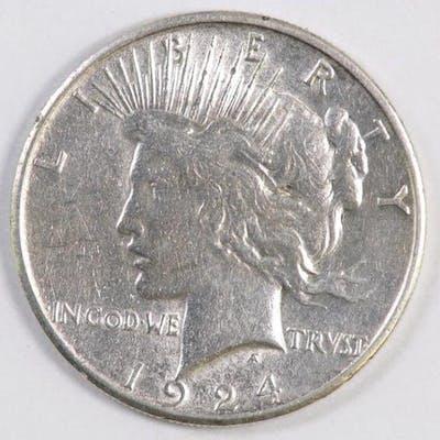 1924 S Peace Silver Dollar.