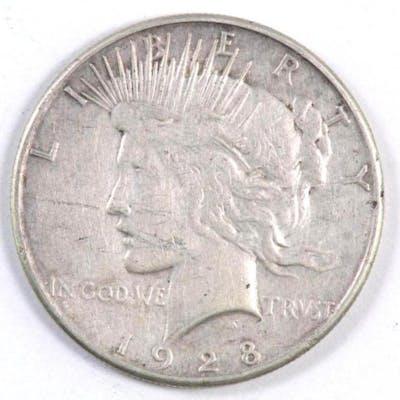 1928 S Peace Silver Dollar.