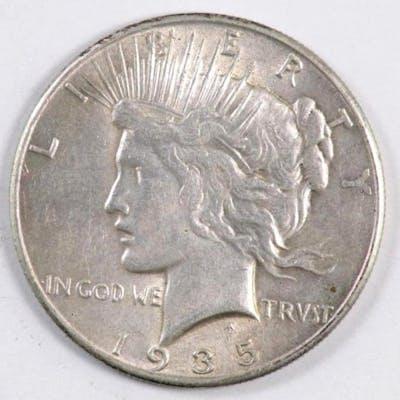 1935 P Peace Silver Dollar.