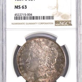 1881 S Morgan Silver Dollar (NGC) MS63.