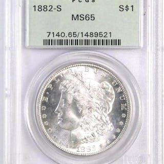 1882 S Morgan Silver Dollar (PCGS) MS65.