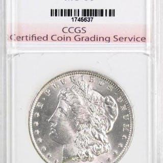 1885 O Morgan Silver Dollar (CCGS) Graded.