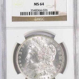 1885 O Morgan Silver Dollar (NGC) MS64.