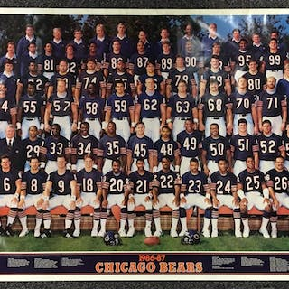 1986-87 Chicago Bears Poster