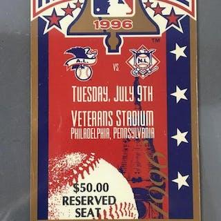 1996 All Star Game Unused Ticket